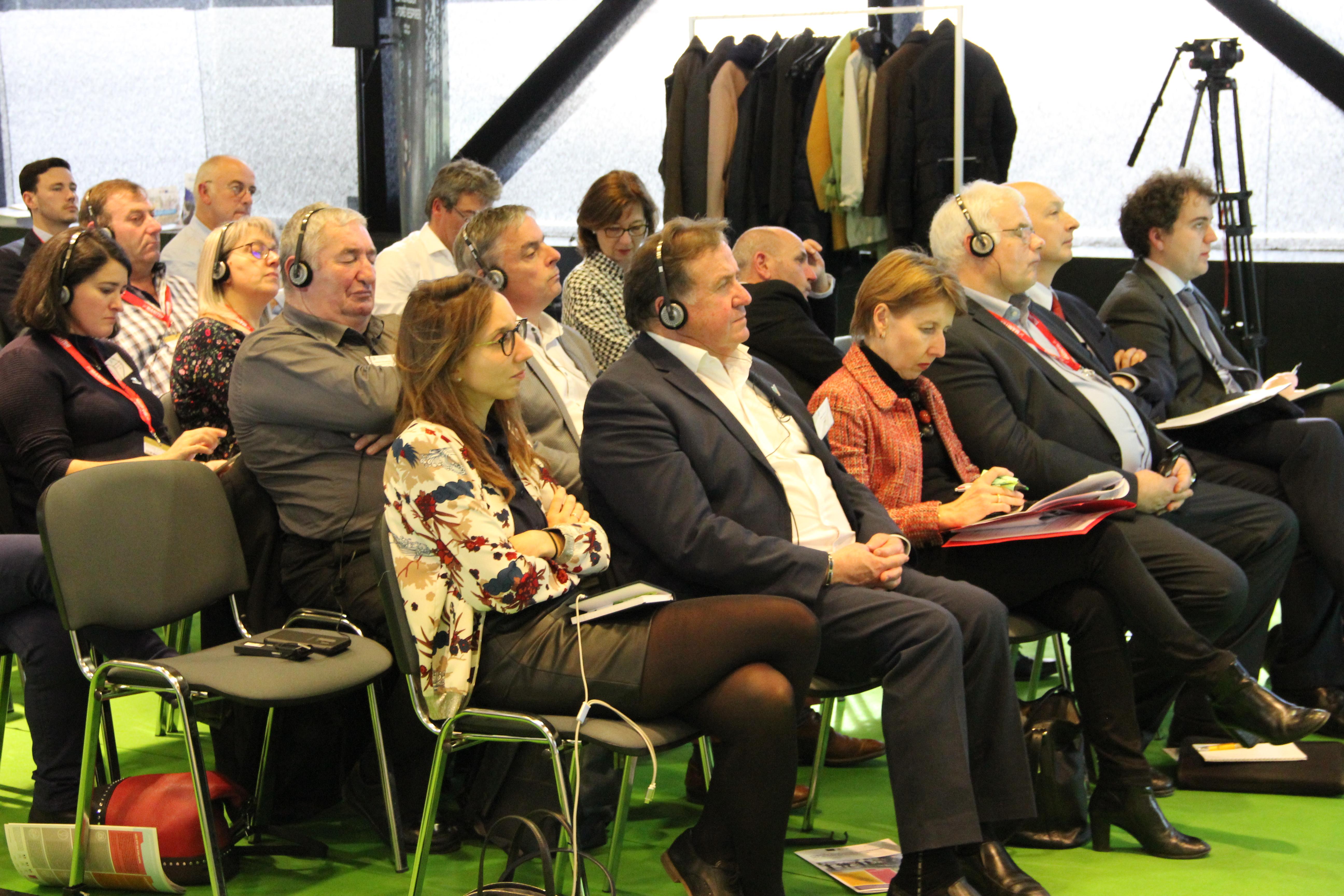 Gérard Napias, Président de la FNEDT, Anne Sander, députée européenne, Klaus Pentzlin, Président de la CEETTAR.