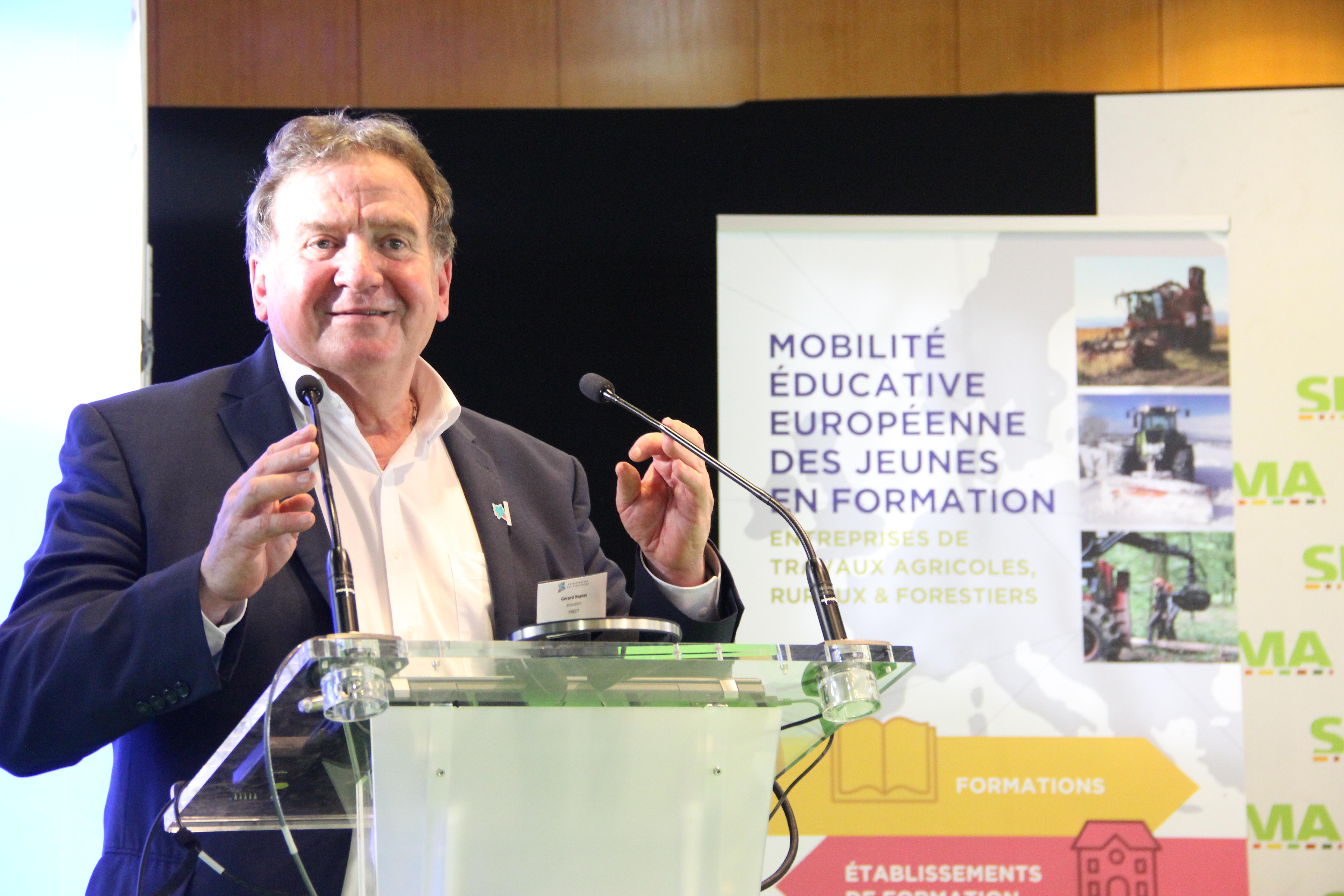 Gérard Napias, Président de la FNEDT
