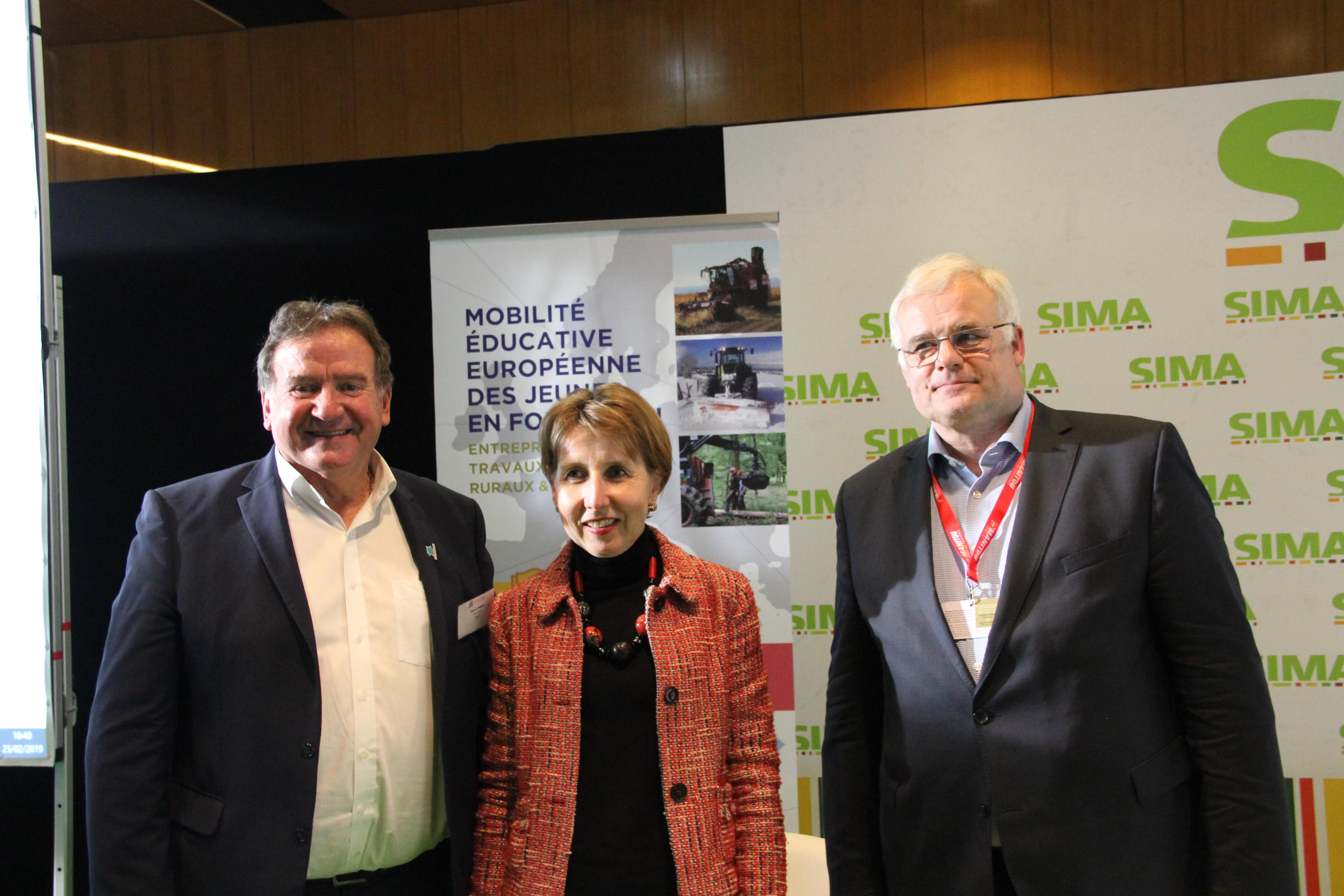Anne Sander, Klaus Pentzlin et Gérard Napias